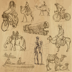 Transportation around the World (part 1) - hand drawings