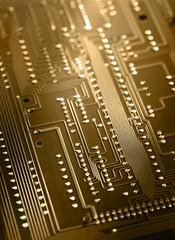 Electrical cardboard closeup in toning