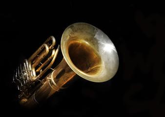 Tuba - wind instrument © Zerophoto