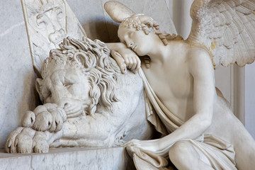 Vienna - Detail of tomb of Marie Christine