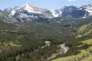 Continental divide, Rocky Mountain National Park, CO, USA