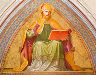 Vienna - Fresco of Saint Augustine