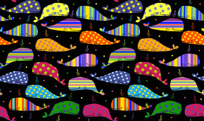 whales seamless background