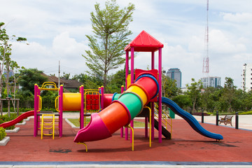 Playground is in the park