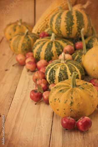 apples, pumpkins