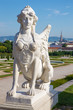 Vienna - sphinx for Belvedere palace in morning