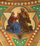 Vienna - Fresco of Temptation of Jesus scene
