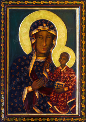 Plakat Vienna - Icon of black Madonna