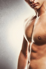 Attractive young guy's torso