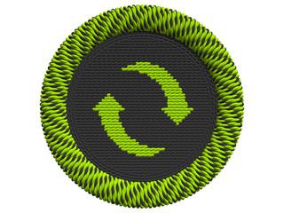 Recycling Icon mit 2 Pfeilen