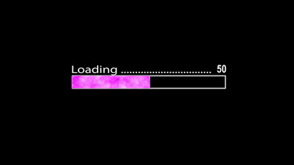 Loading bar purple
