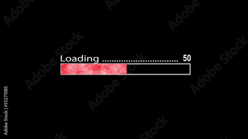 Loading bar red