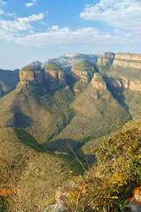 Beautiful view of Blyde river canyon, nature of South Africa