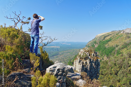 Photographer in Blyde river canyon, travel in South Africa