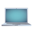 Modern laptop over white background. Vector design.