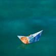 Sommerlicher Hintergrund mit Schiff - Reise, Urlaub, Sommer