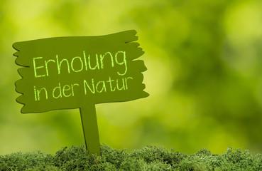 Erholung in der Natur Konzept