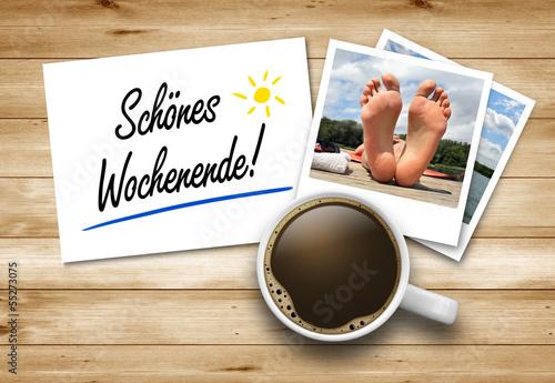 canvas print picture Schönes Wochenende