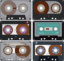 The The complete set of the different Audio Cassettes Tapes