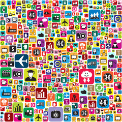 Business and social media icons infographics wallpaper