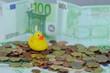 Schwimmen im Geld
