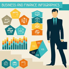 Business and finance infographics.