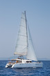 Segeln - Katamaran in voller Fahrt - Blaue Reise