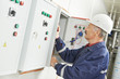 Senior adult electrician engineer worker - 55275033