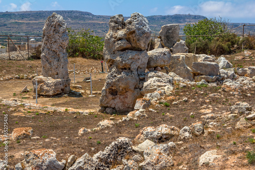Skorba temples in Mgarr in the republic of Malta