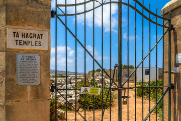 Ta'Hagrat temples entrance in Mgarr