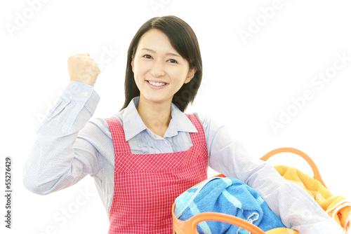 笑顔の主婦