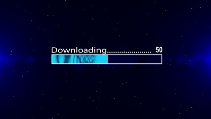 Downloading  blue bar