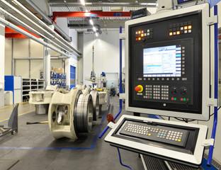 Bedienung Industriemaschine