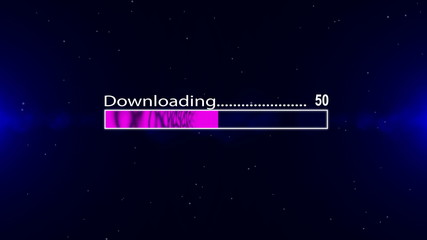 Downloading bar violet