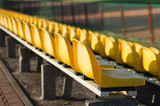 Chairs in the stands of the stadium