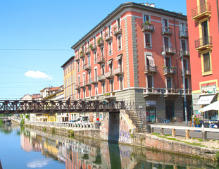 Glimpse of Naviglio, Milan