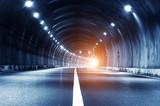 Abstract car in the tunnel trajectory