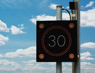 Traffic Calming speed sign