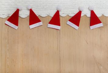 Weihnachtlicher Holz Hintergrund zu Weihnachten in Rot