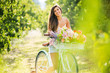 Beautiful Girl on Bike