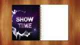 Show Time Text in Book and Empty White Page