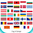 Flags set of Europe