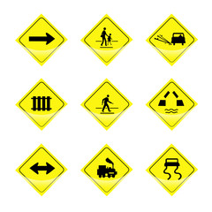 Signs vector on white background