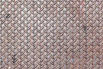 rusty diamond steel plate background