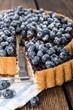 Fresh Blueberry Tart with fruits