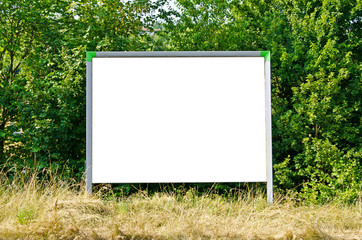 Werbetafel Natur Blank