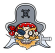 Captain Black Pirate - Vector Cartoon Illustration