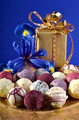 Pralinen mit Geschenkverpackung
