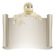 Mummy Halloween Banner Scroll