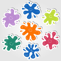 Ink blots stickers © kytalpa